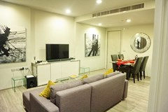 Condominium For Sale Wongamat showing the living and dining areas