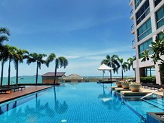 Condominium for sale Northshore Pattaya showing the pool and condo building