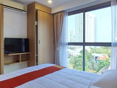 Condominium for sale Pratumnak Hill Pattaya showing the bedroom and view