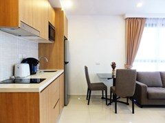 Condominium for sale Pratumnak Hill Pattaya showing the dining and kitchen areas