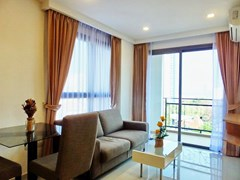 Condominium for sale Pratumnak Hill Pattaya showing the living, dining and balcony