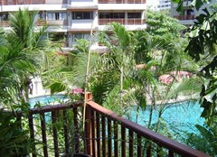 Condominium for sale in Jomtien at Chateau Dale showing the balcony view