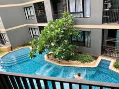 Condominium for sale Pattaya showing the balcony view