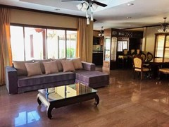 House for sale Huai Yai Pattaya showing the living, dining and kitchen areas