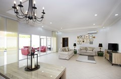 House for sale Pratumnak Pattaya showing the living area and covered terrace