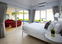 House for sale Pratumnak Pattaya showing the second bedroom with poolside