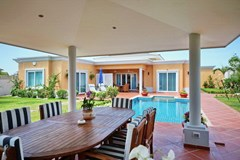 House for sale Siam Royal View Pattaya showing the sala pool and garden
