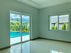 House for sale East Pattaya showing the second bedroom with pool view