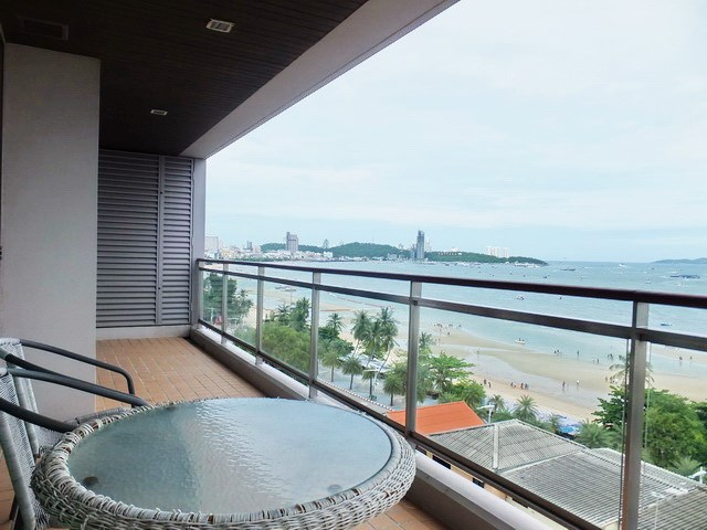 Condominium for rent in Northshore Pattaya showing the balcony view