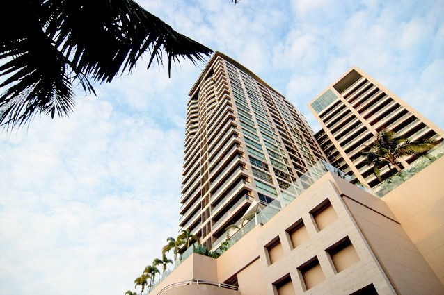 Condominium for rent in Northshore Pattaya showing the iconic building