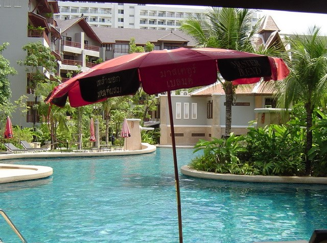 Condominium for sale in Jomtien at Chateau Dale showing the communal pool