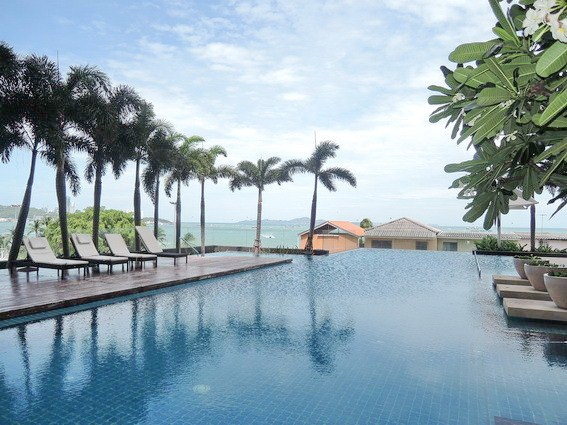Condominium for sale Northshore Pattaya showing the communal swimming pool