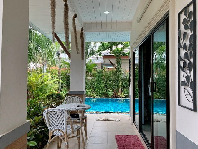 House for sale Pattaya showing the terrace