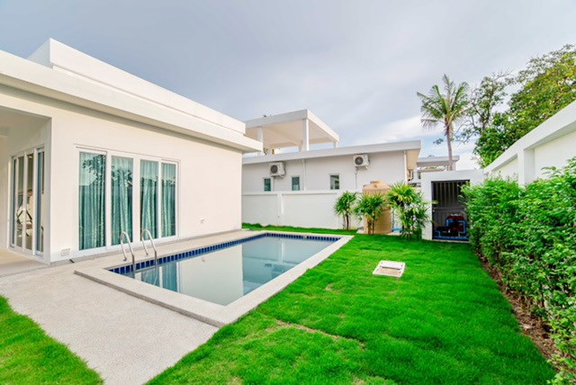 House for Sale Silverlake Pattaya showing the swimming pool