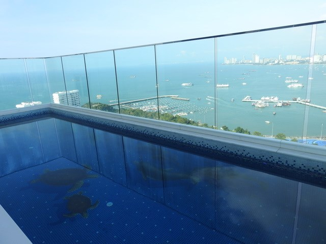 Penthouse Condominium for sale Pratumnak Pattaya showing the private pool