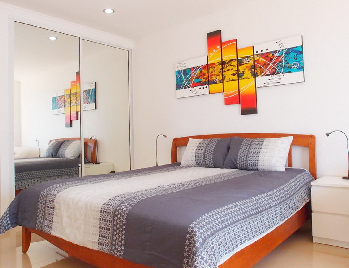 Condominium for rent Jomtien showing the sleeping area