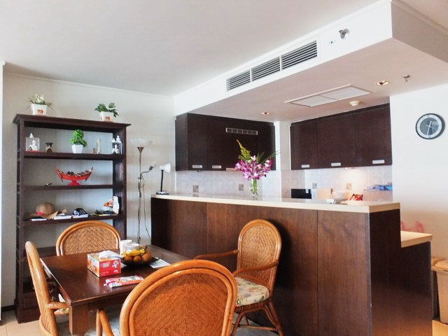 Condominium for rent Northshore Pattaya showing the dining and kitchen areas