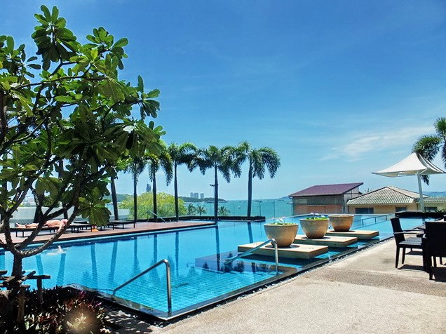 Condominium for rent Northshore Pattaya showing the pool