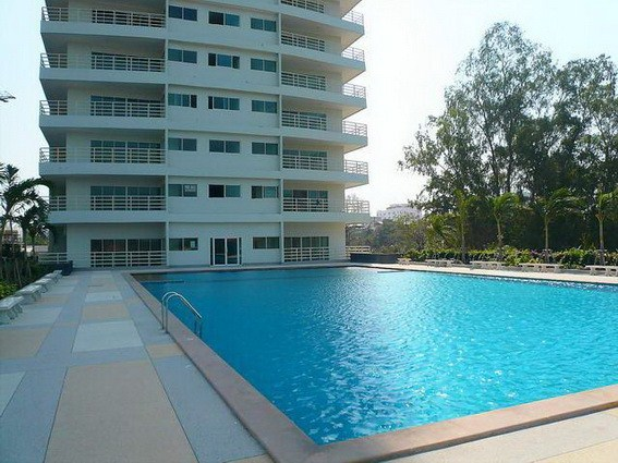 Condominium for rent Pattaya View Talay 6 showing the communal pool