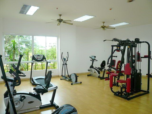 Condominium for rent in Pattaya showing the gymnasium