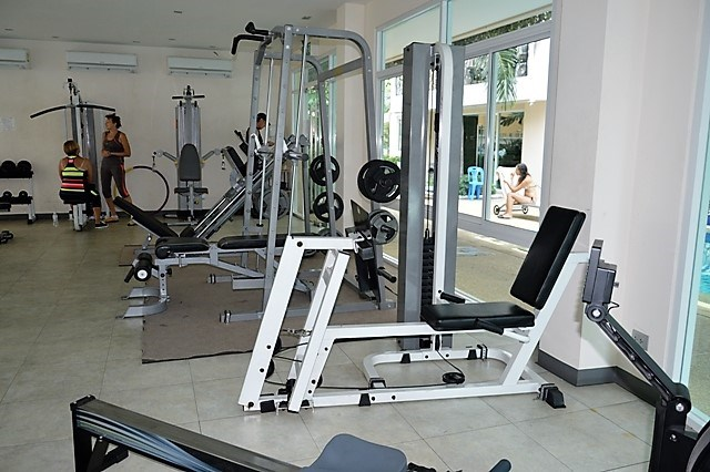 Condominium for sale Jomtien showing the gymnasium