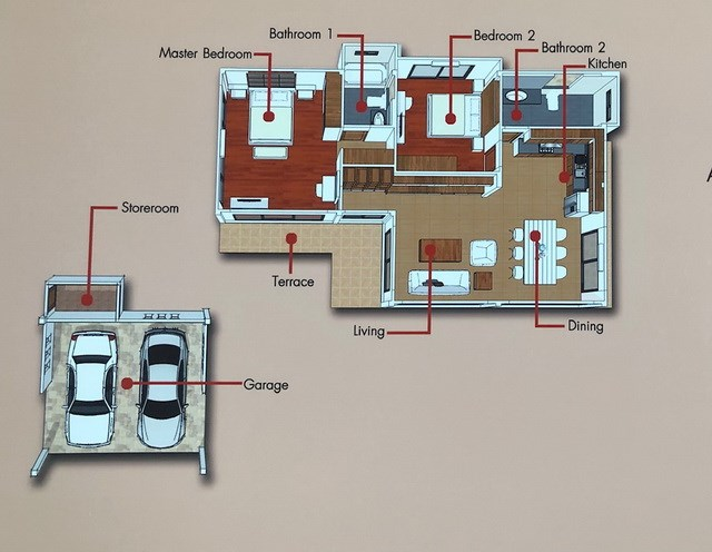 House for sale Huay Yai Pattaya showing the floor plan
